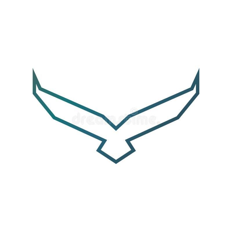 E Uccello araldico corporativo di lusso di Eagle Phoenix Hawk di volo illustrazione vettoriale