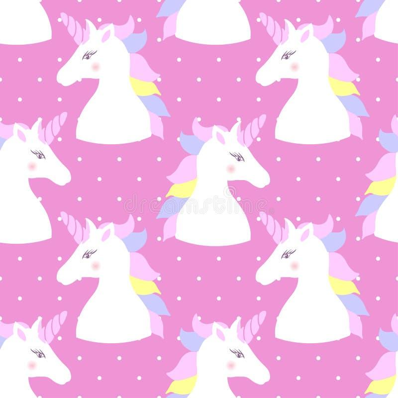 E unicorn r Vector royalty-vrije illustratie