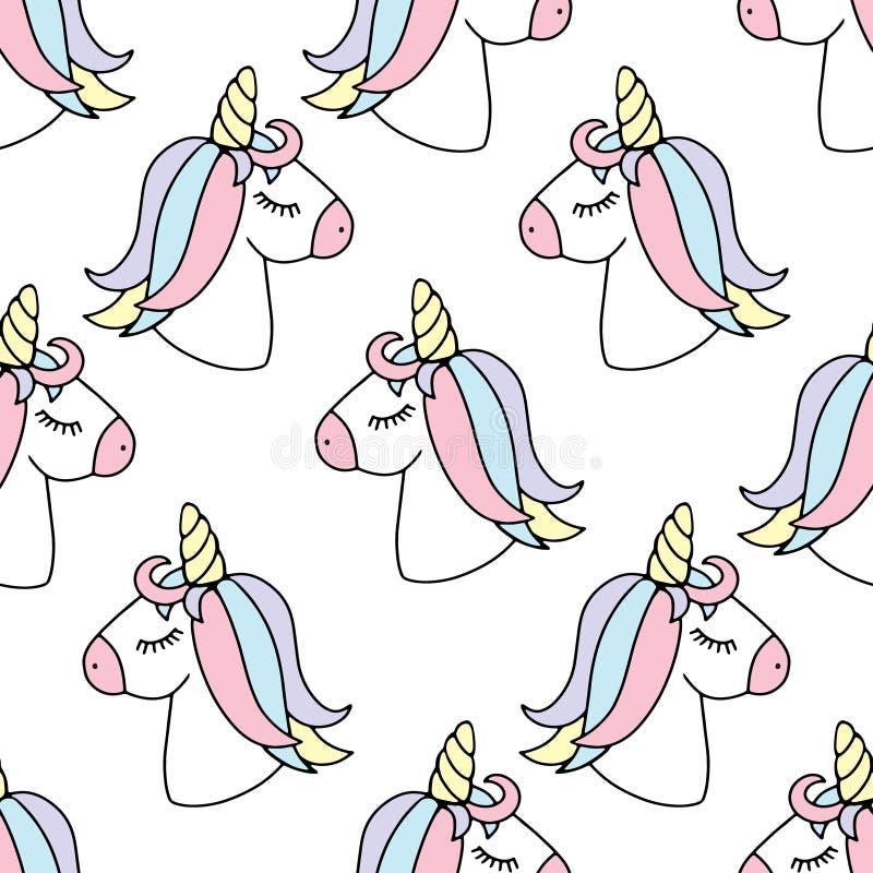 E unicorn r vektor stock illustrationer