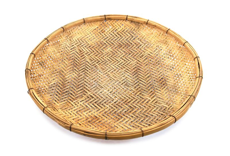 E V?vt fr?n bambumagasinet Isolerat bambumagasin Gammalt isolerat bambumagasin royaltyfria foton