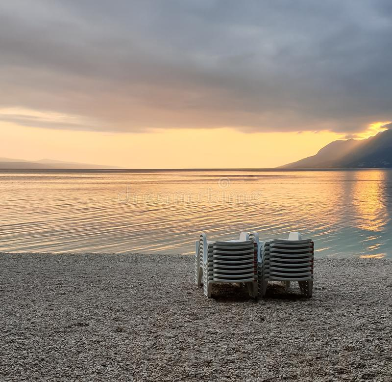 E Vacanze estive in mare fotografie stock libere da diritti