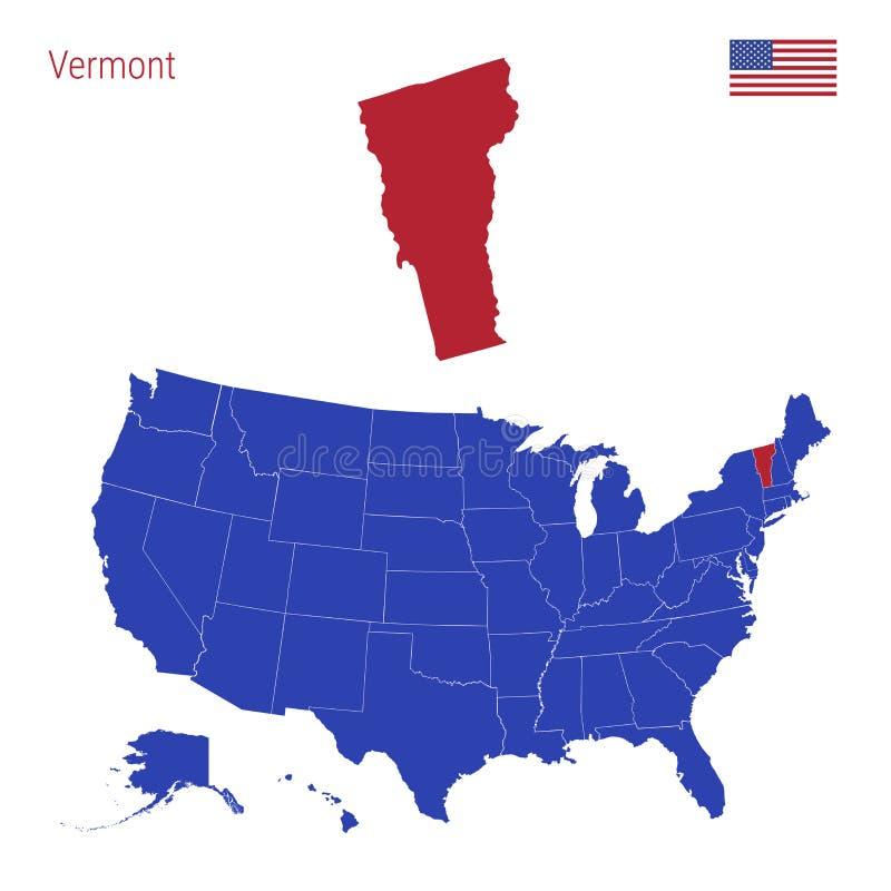E VectordieKaart van de Verenigde Staten in Afzonderlijke Staten worden verdeeld royalty-vrije illustratie