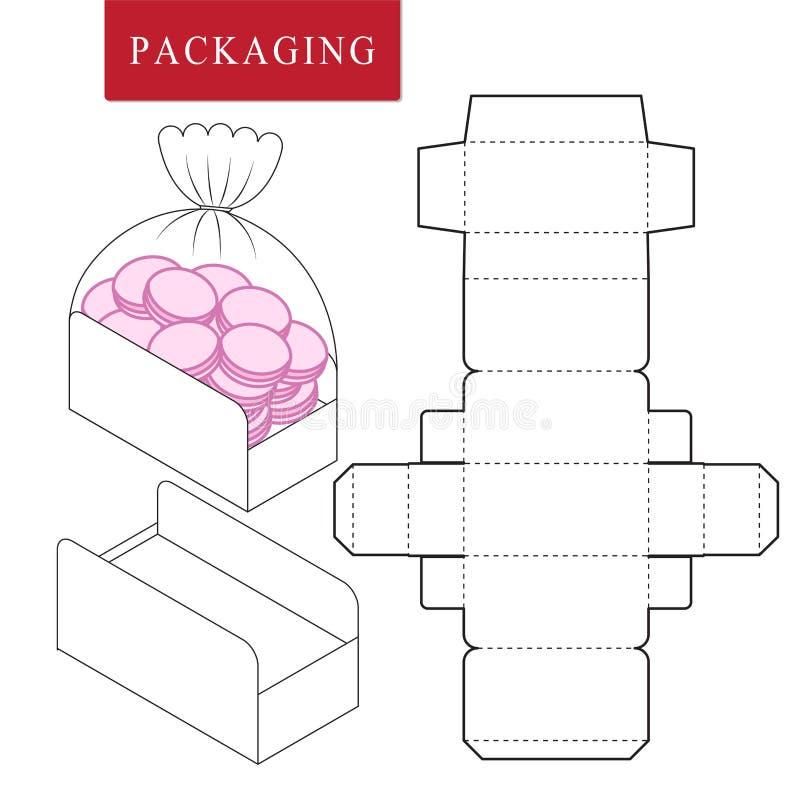 E Vectorillustratie van doos stock illustratie