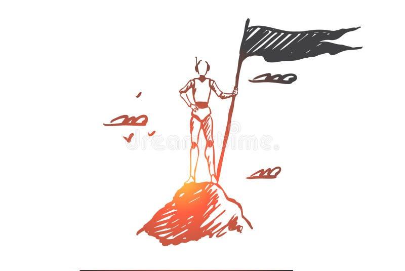 E Vettore isolato disegnato a mano royalty illustrazione gratis