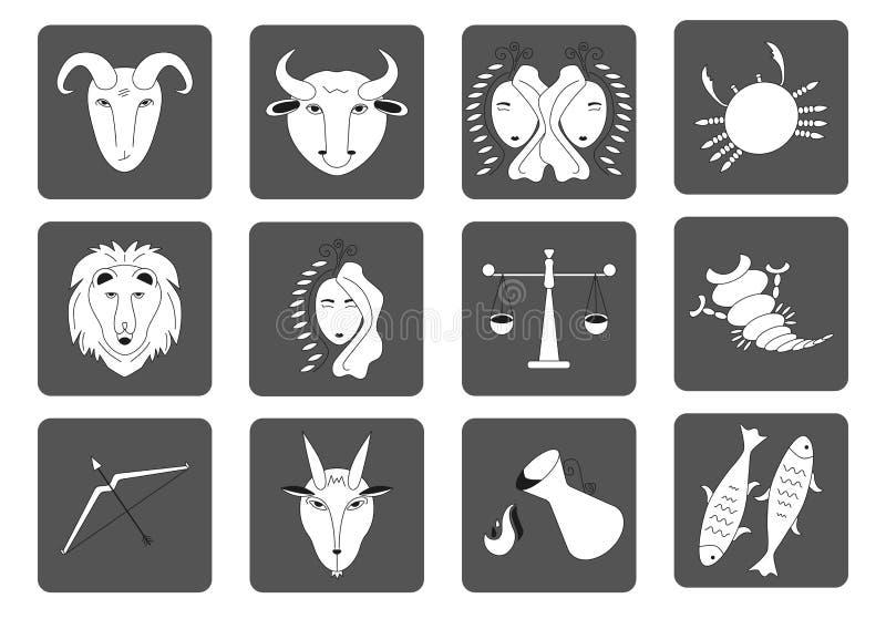 E Vierkante pictogrammen Vector royalty-vrije illustratie