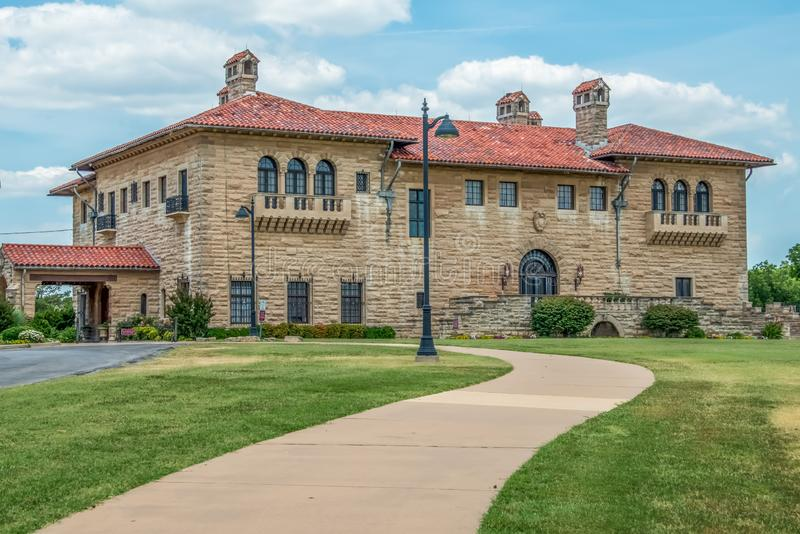 E.W Marland Mansion Ponca City OK. The E.W. Marland Mansion is a 43,561 square feet Mediterranean Revival-style mansion located in Ponca City, Oklahoma, United royalty free stock photos