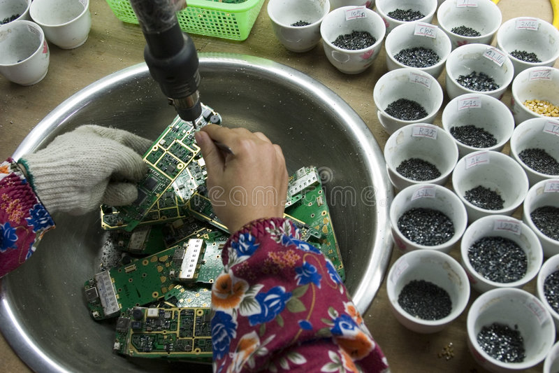 E-waste in china. E-waste in guangdong province of china royalty free stock images