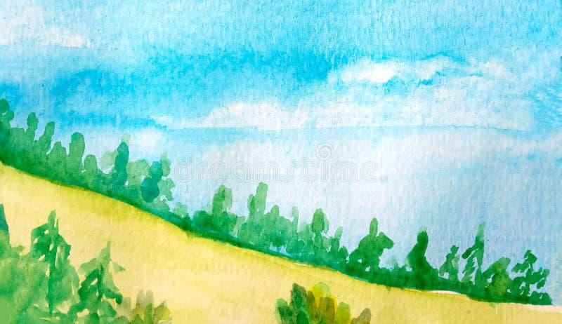 E watercolor r ilustração do vetor