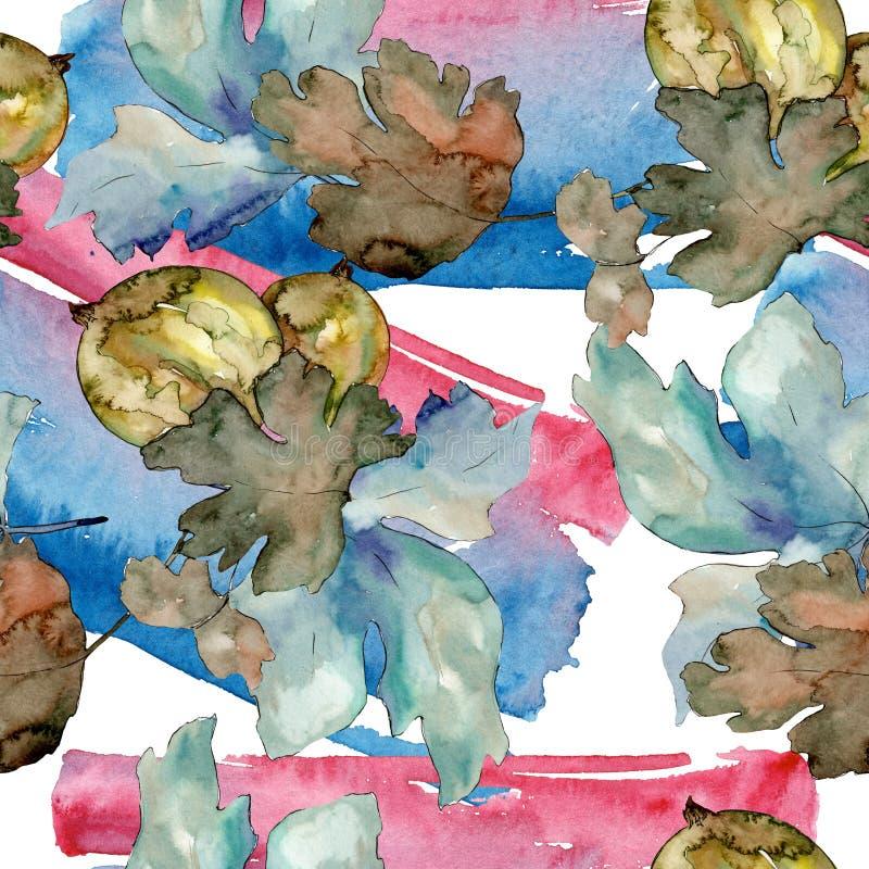 E Waterverf achtergrondillustratiereeks Naadloos patroon als achtergrond stock illustratie