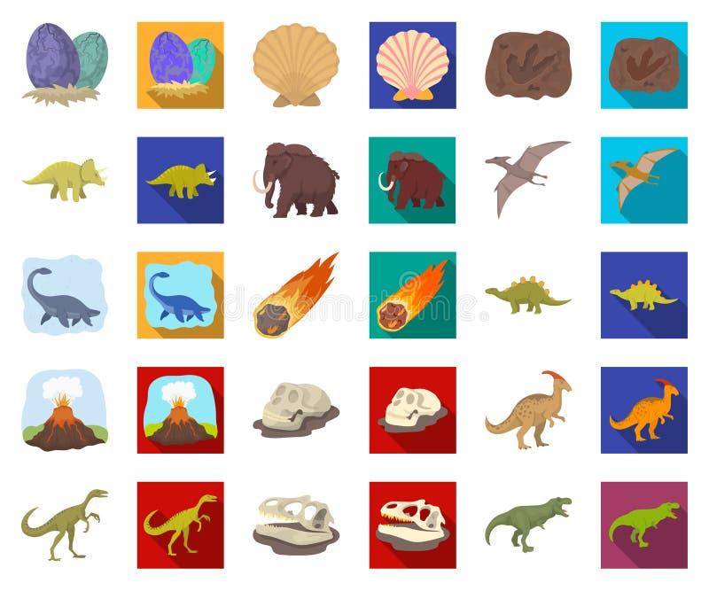E Web animal préhistorique d'actions de symbole de vecteur illustration stock