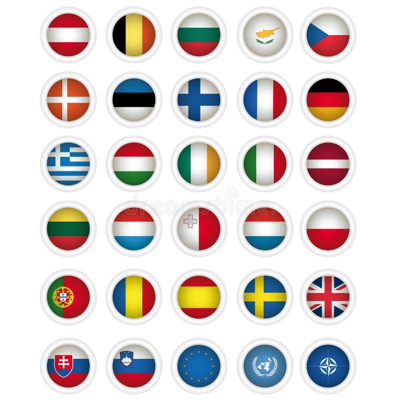 e wszystkie eu zaznacza ikon państwa członkowskie zdjęcie royalty free