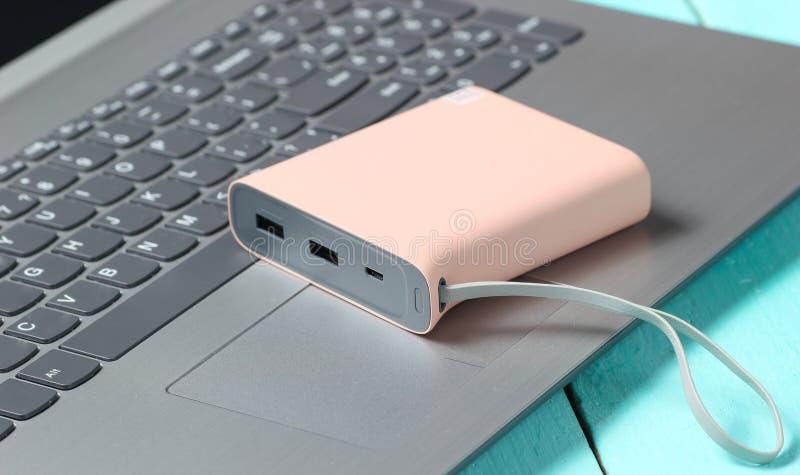 E Yttre batteri royaltyfria bilder