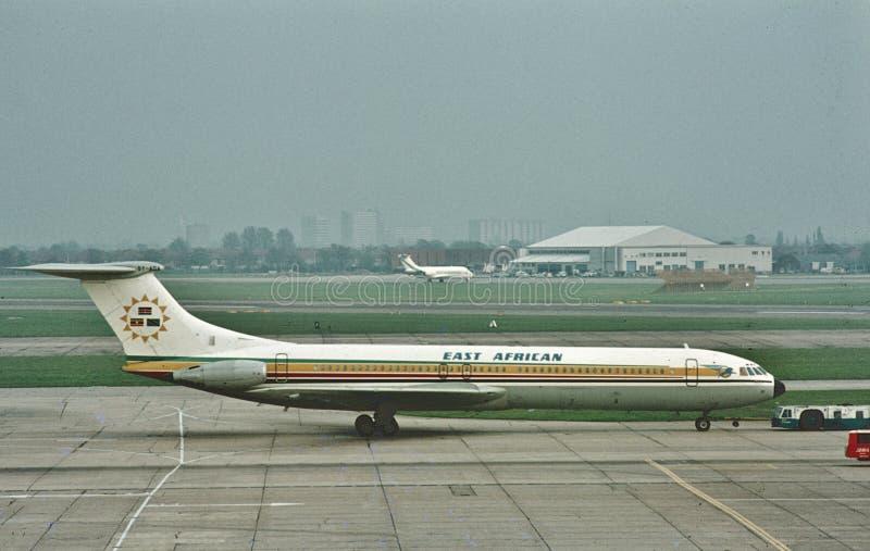EAA东部非航威士VC-10在伦敦海斯罗在1972年4月 免版税图库摄影