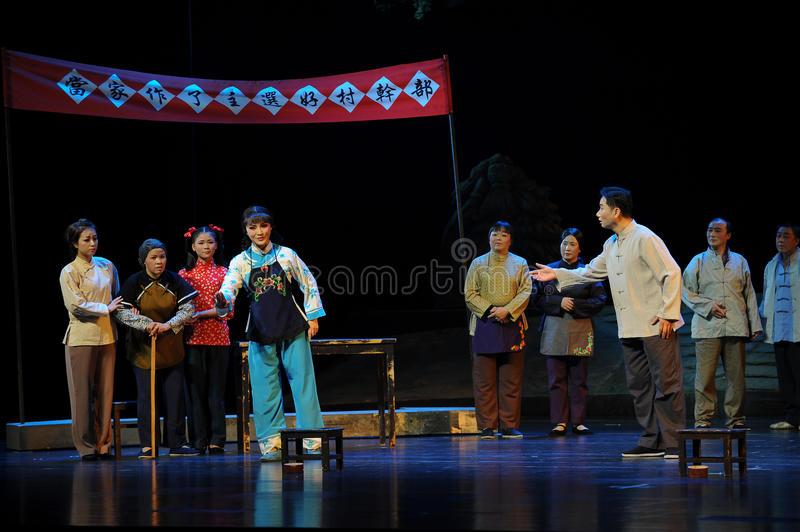 Each airs his own views- Jiangxi opera a steelyard. Jiangxi opera a steelyard is adapted from a true story: the last century fortys, the protagonists father runs stock image