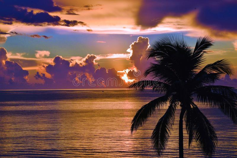 Each Beach Sunrise Offers a Different Color Scheme. The beach Sunrise brings vibrant color, energy and vibrancy to the ocean and shoreline stock photos