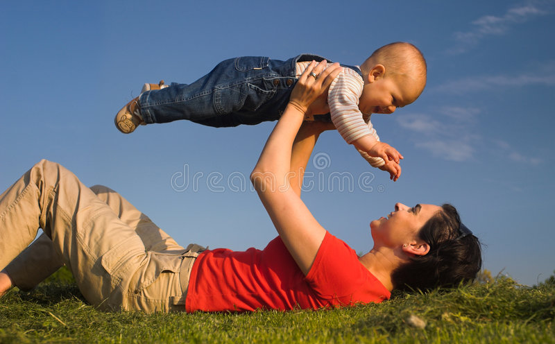 Each child can fly 4. royalty free stock image