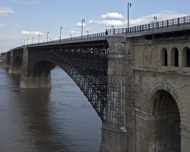 Eads-Brücke lizenzfreie stockfotos