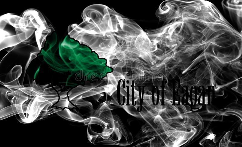 Eagan miasta dymu flaga, Minnestoa stan, Stany Zjednoczone Ameryka zdjęcia stock