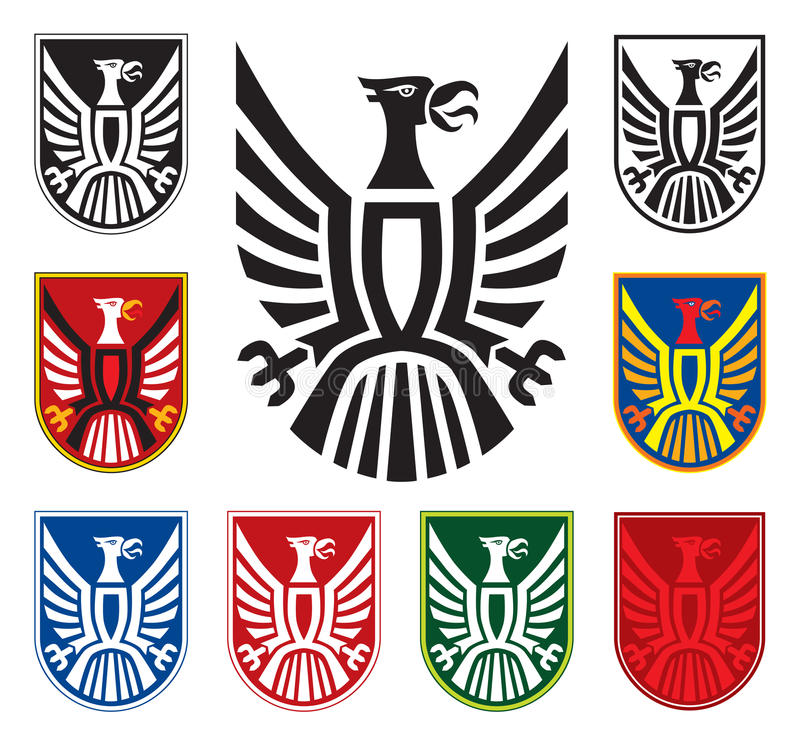 Eagle. Symbol in few variations. Vector royalty free illustration