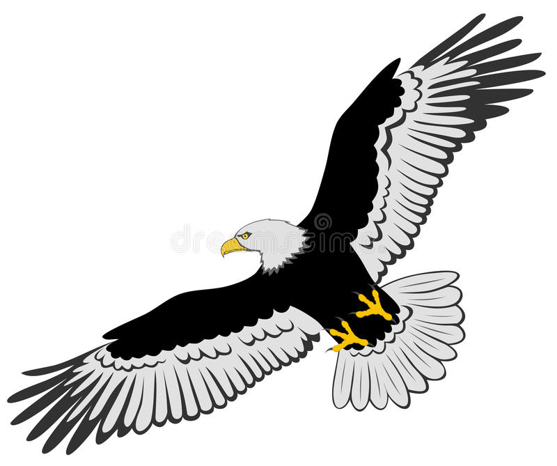 Eagle. Abstract vector illustration of eagle stock illustration