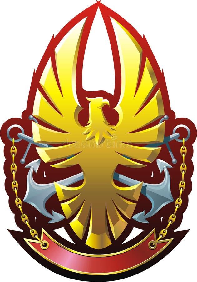 Download Eagle stock vector. Image of breastplate, emblem, fleet - 18048391