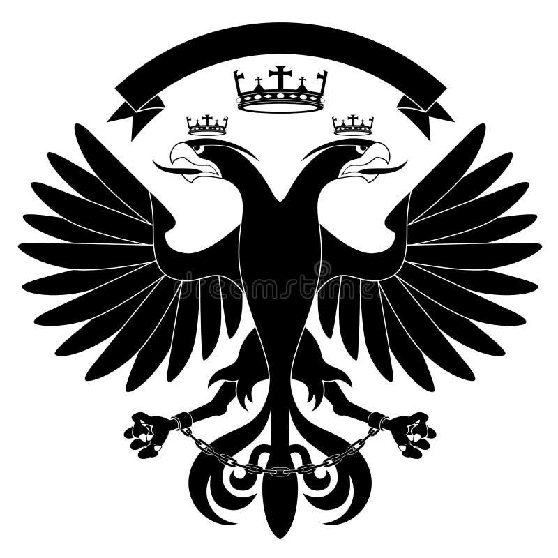 eagle#2 heráldico Dobro-dirigido ilustração royalty free