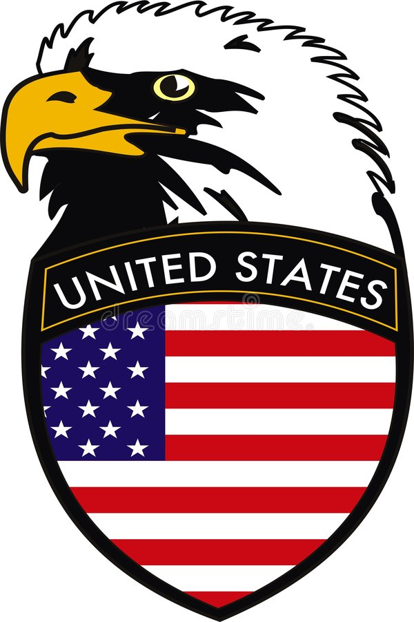 Download Eagle stock vector. Image of plaque, patriot, national - 7038765