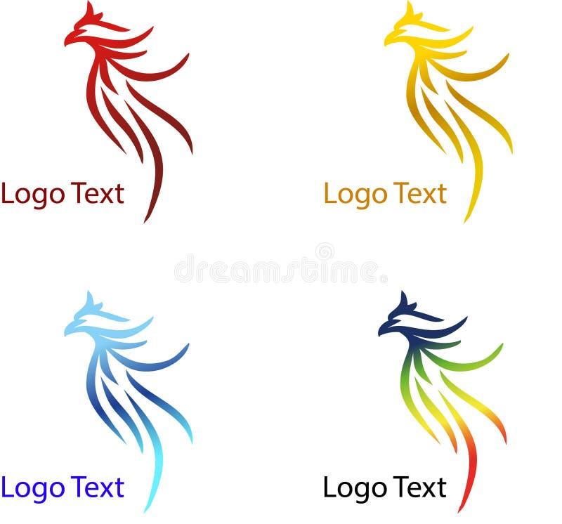 Eagle abstrakt företagslogo med olik färg vektor illustrationer