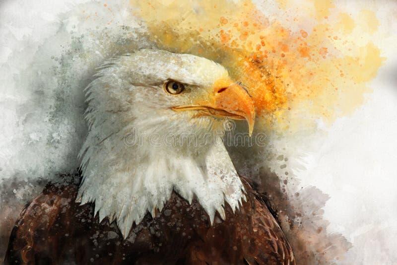 Eagle America akwareli obrazu symbolu ptasi drapieżnik ilustracja wektor