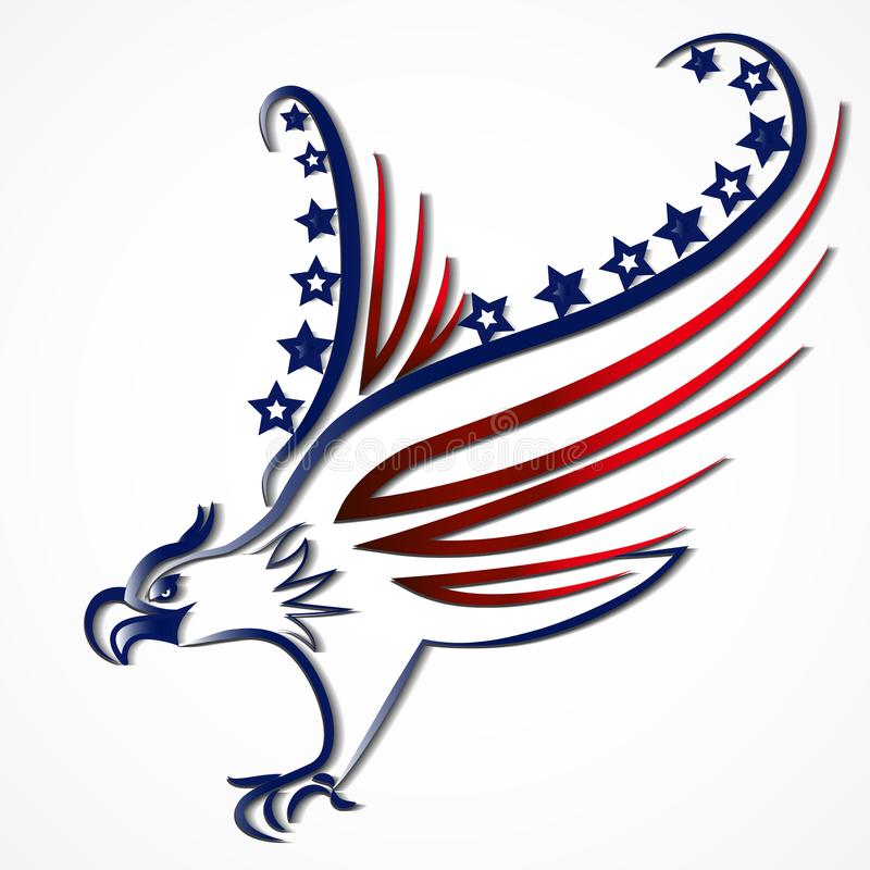 Download Eagle American USA Flag Icon Logo Vector Stock