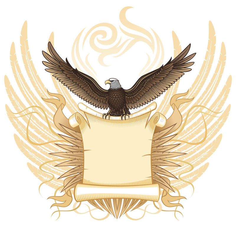 Download Eagle with Ancient  Scroll stock vector. Illustration of coat - 7488336