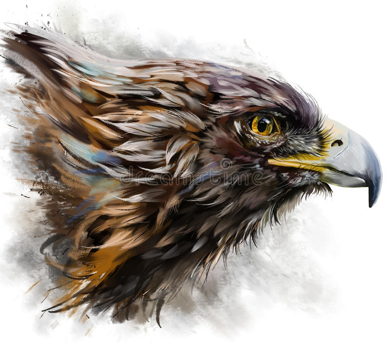 Eagle-Aquarellmalerei stock abbildung
