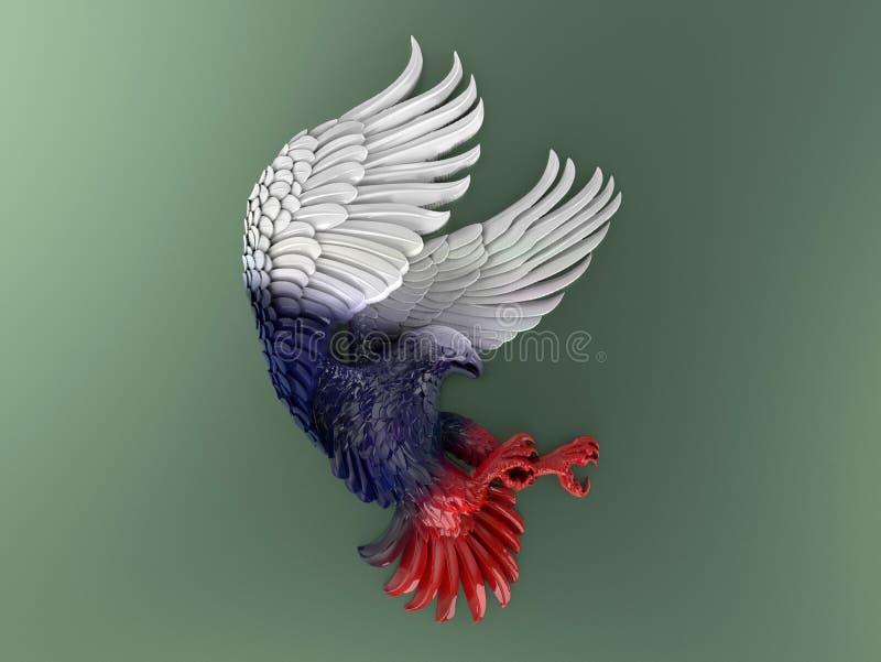Eagle audacieux coloré avec le plan de couleurs des Etats-Unis illustration de vecteur