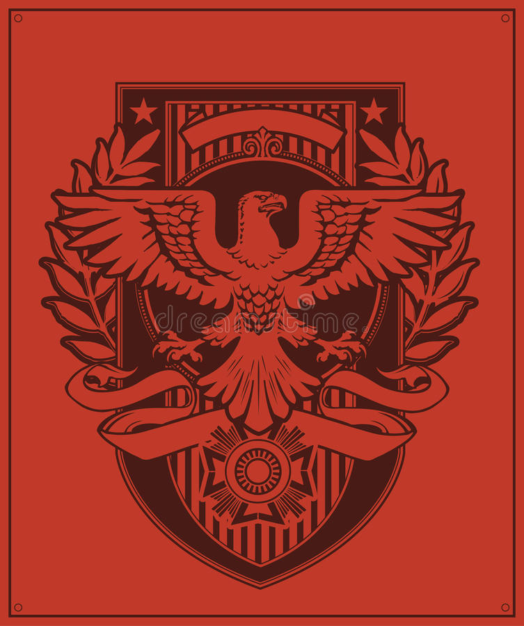 Free Eagle Badge Design Stock Photos - 29926503