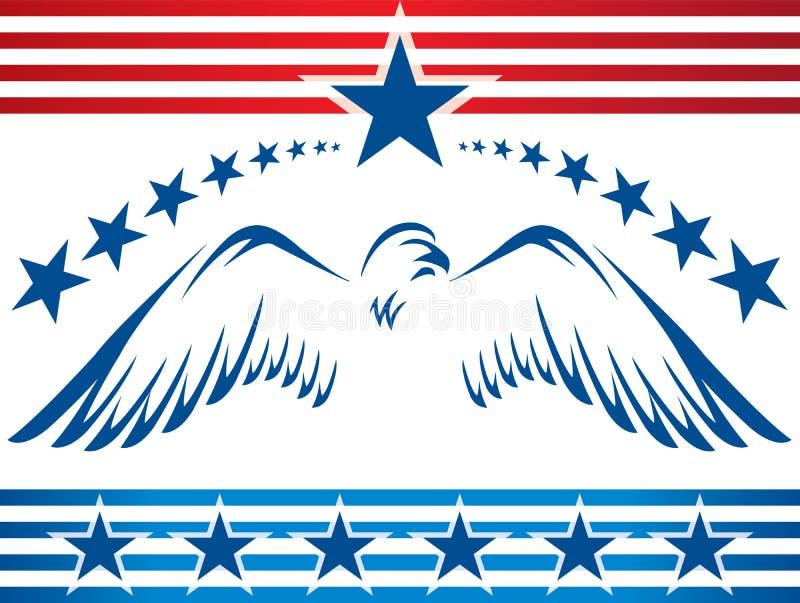 Eagle_banner patriotique illustration libre de droits