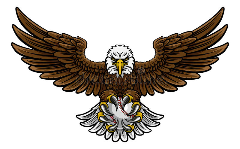 Eagle Baseball Sports Mascot ilustração do vetor