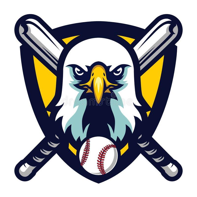 Eagle Baseball Team Logo Badge profissional moderno ilustração stock