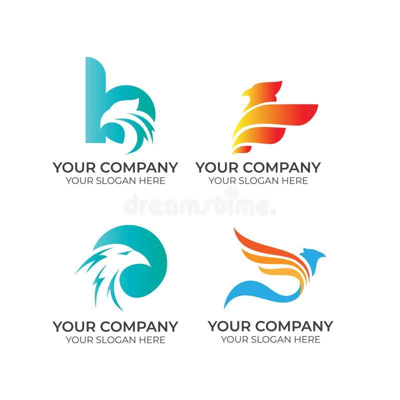 Eagle-bedrijfsembleeminzameling vector illustratie