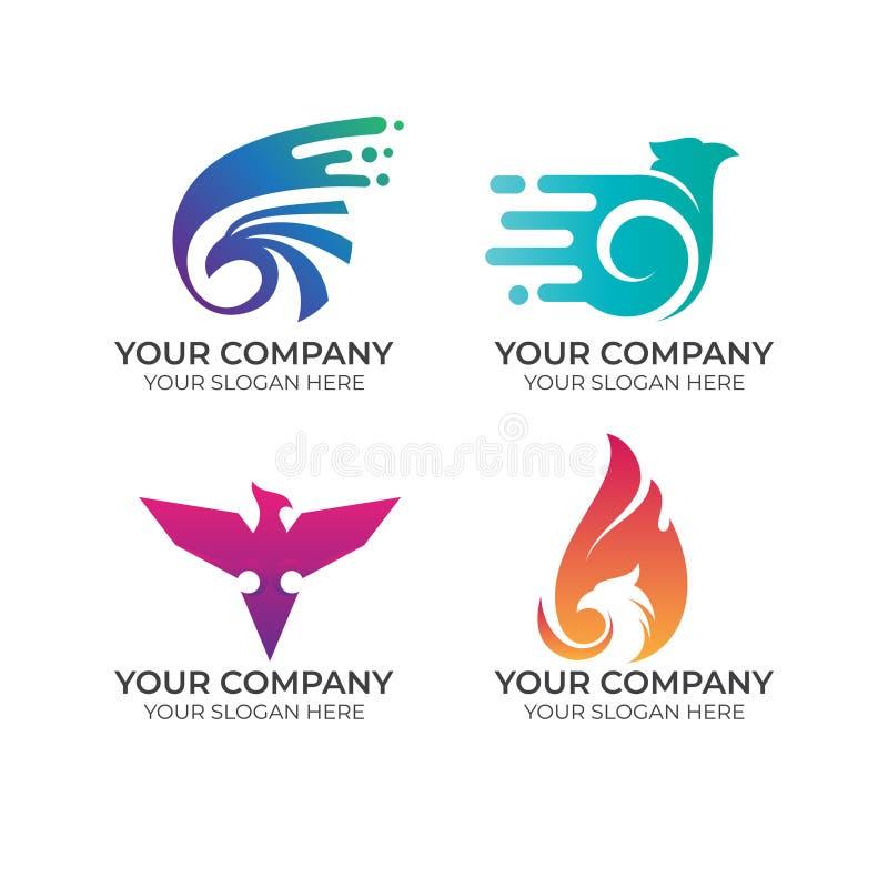 Eagle-bedrijfsembleeminzameling stock illustratie