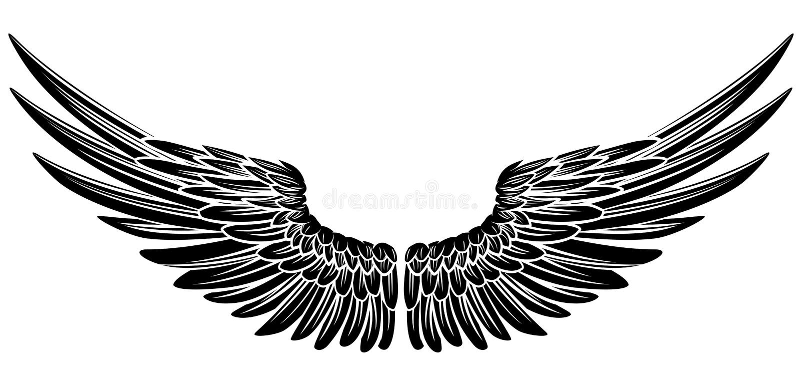 Eagle Bird eller Angel Wings royaltyfri illustrationer