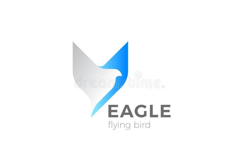 Eagle Bird Flying Logo designvektor Falkhök stock illustrationer