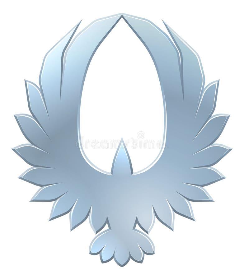 Eagle Bird Icon Concept lizenzfreie abbildung