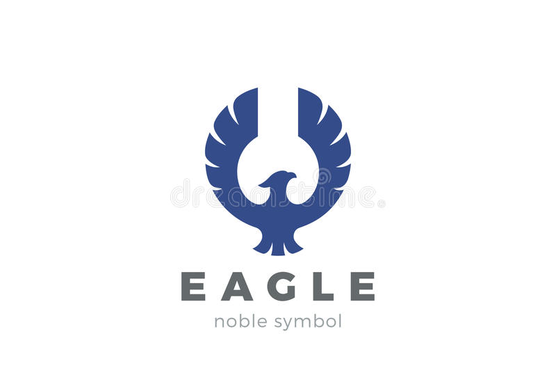 Eagle Bird Logo Abstract . Flying Falcon Hawk Phoenix ...