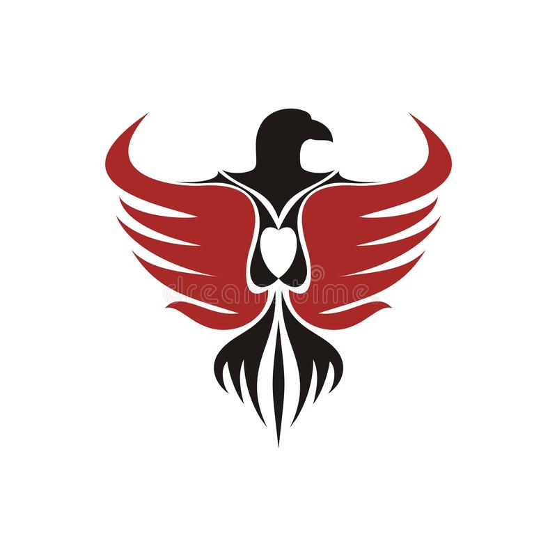 Eagle - Bird Logotype with wings vector illustration