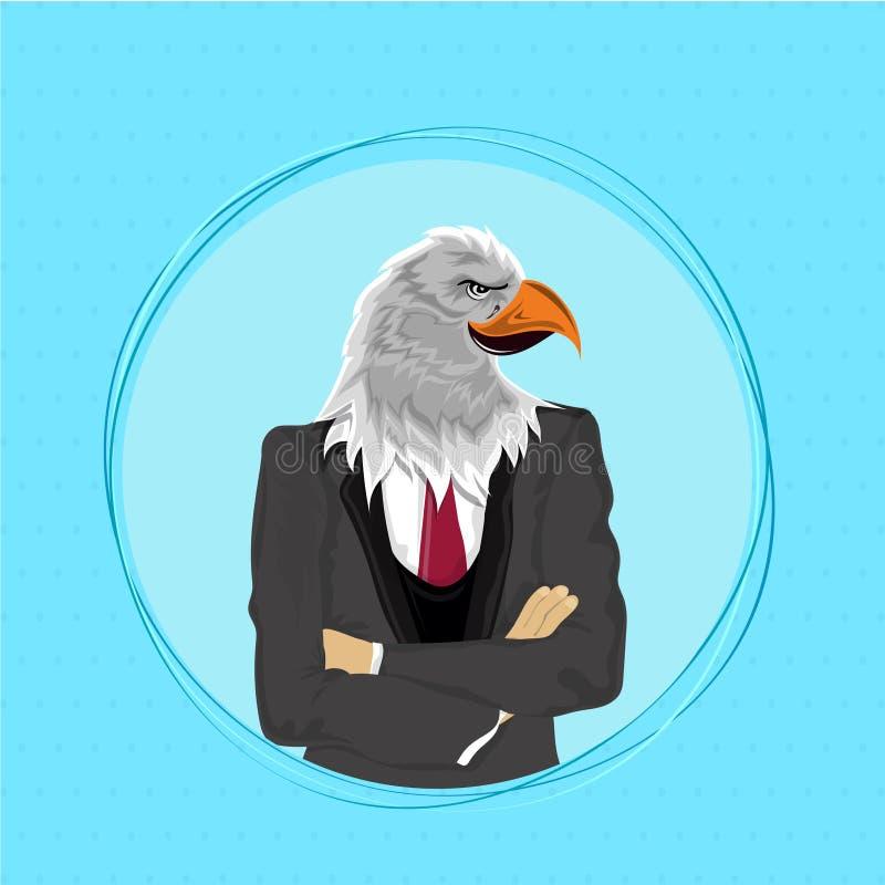 Eagle Bird In Suit, Anthropomorphic Design. Stock Illustration ...