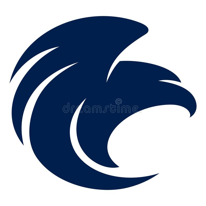 Eagle Blue Navy Abstract royalty free stock images