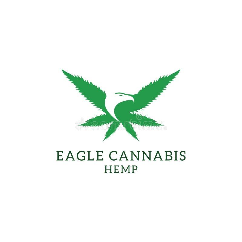 Free Eagle Cannabis Hemp Logo Designs, Cannabis Logo Template Stock Photography - 169345142