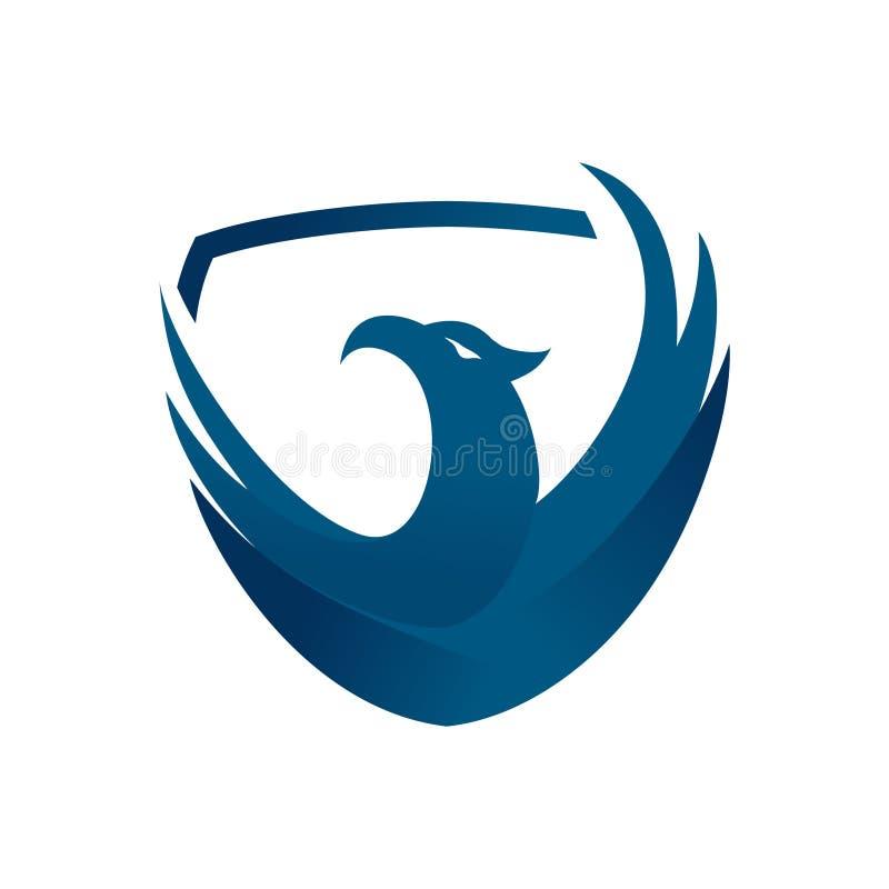 Eagle charakteru logo wektor ilustracji