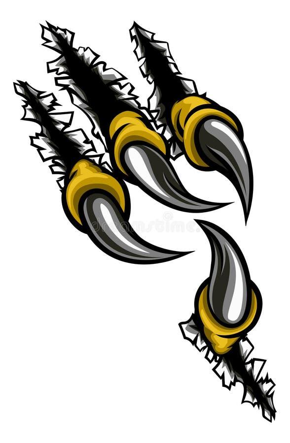 Eagle Claw Ripping Through Background ilustração stock