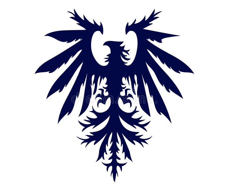 Eagle com ilustração das asas para o tipo e os anúncios publicitários ilustração do vetor